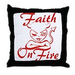 Faith On Fire Throw Pillow