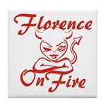 Florence On Fire Tile Coaster
