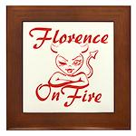 Florence On Fire Framed Tile