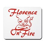 Florence On Fire Mousepad