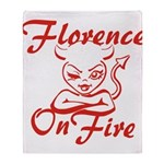 Florence On Fire Throw Blanket