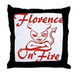 Florence On Fire Throw Pillow