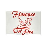 Florence On Fire Rectangle Magnet