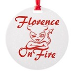 Florence On Fire Round Ornament