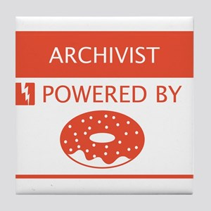 Archivist Powered by Doughnuts Tile Coaster