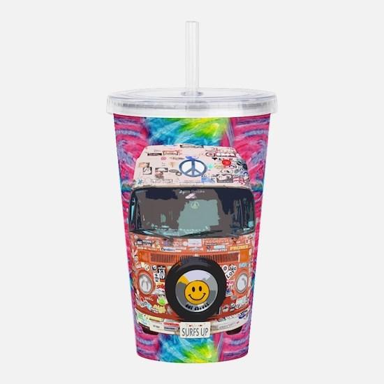 Groovy Hippie Van Acrylic Double-wall Tumbler