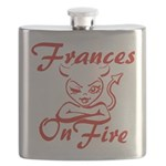 Frances On Fire Flask