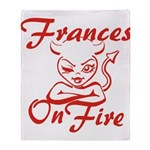 Frances On Fire Throw Blanket