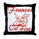 Frances On Fire Throw Pillow