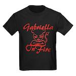 Gabriella On Fire Kids Dark T-Shirt