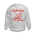 Gabriella On Fire Kids Sweatshirt