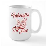 Gabriella On Fire Large Mug