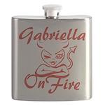 Gabriella On Fire Flask