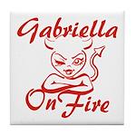 Gabriella On Fire Tile Coaster