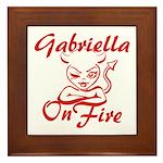 Gabriella On Fire Framed Tile