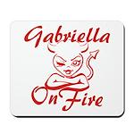 Gabriella On Fire Mousepad
