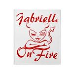 Gabriella On Fire Throw Blanket