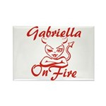 Gabriella On Fire Rectangle Magnet