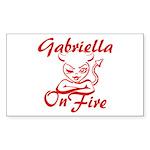 Gabriella On Fire Sticker (Rectangle)