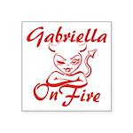 Gabriella On Fire Square Sticker 3