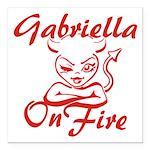 Gabriella On Fire Square Car Magnet 3