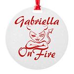 Gabriella On Fire Round Ornament