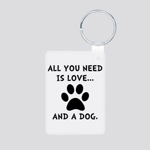 Need Love Dog Aluminum Photo Keychain