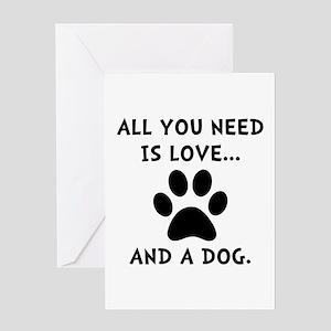 need love dog greeting card - Humane Society Christmas Cards