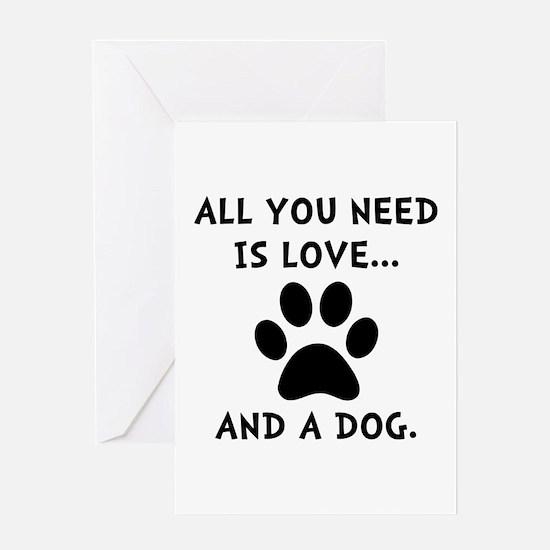 Need Love Dog Greeting Card
