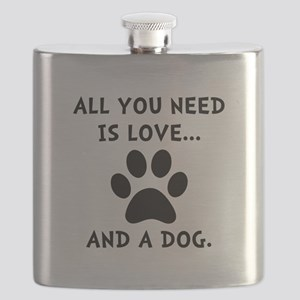Need Love Dog Flask