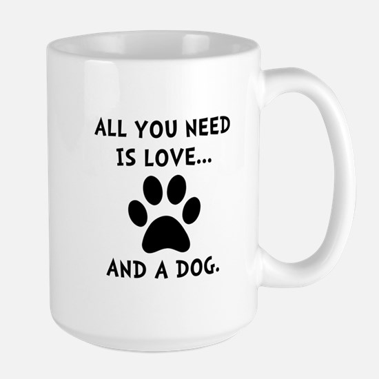 Need Love Dog Large Mug