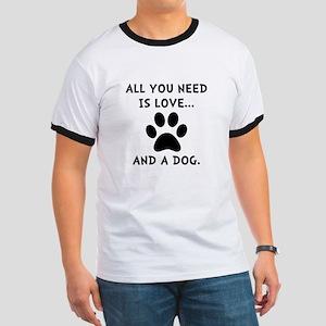 Need Love Dog Ringer T