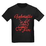 Gabrielle On Fire Kids Dark T-Shirt