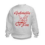 Gabrielle On Fire Kids Sweatshirt