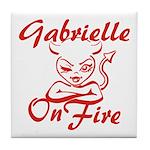 Gabrielle On Fire Tile Coaster