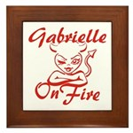 Gabrielle On Fire Framed Tile