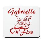 Gabrielle On Fire Mousepad