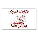 Gabrielle On Fire Sticker (Rectangle)