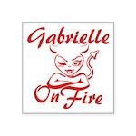 Gabrielle On Fire Square Sticker 3