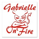 Gabrielle On Fire Square Car Magnet 3