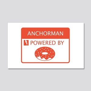 Anchorman Powered by Doughnuts 20x12 Wall Decal
