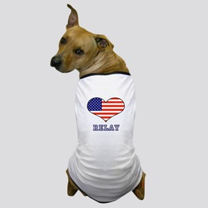 LOVE RELAY the stars and stripes Dog T-Shirt
