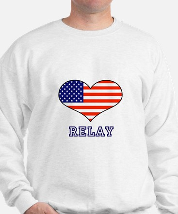 LOVE RELAY the stars and stripes Sweatshirt