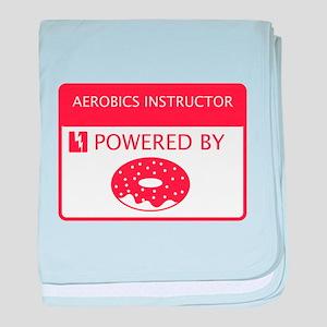 Aerobics instructor Powered by Doughnuts baby blan
