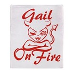 Gail On Fire Throw Blanket