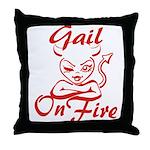 Gail On Fire Throw Pillow