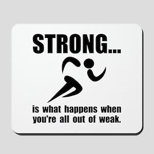 Running Strong Mousepad