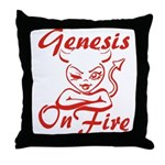 Genesis On Fire Throw Pillow