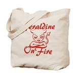 Geraldine On Fire Tote Bag