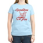 Geraldine On Fire Women's Light T-Shirt